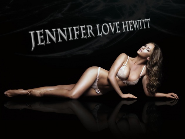 Wallpaper Jennifer Love Hewitt in lingerie (The Client List)