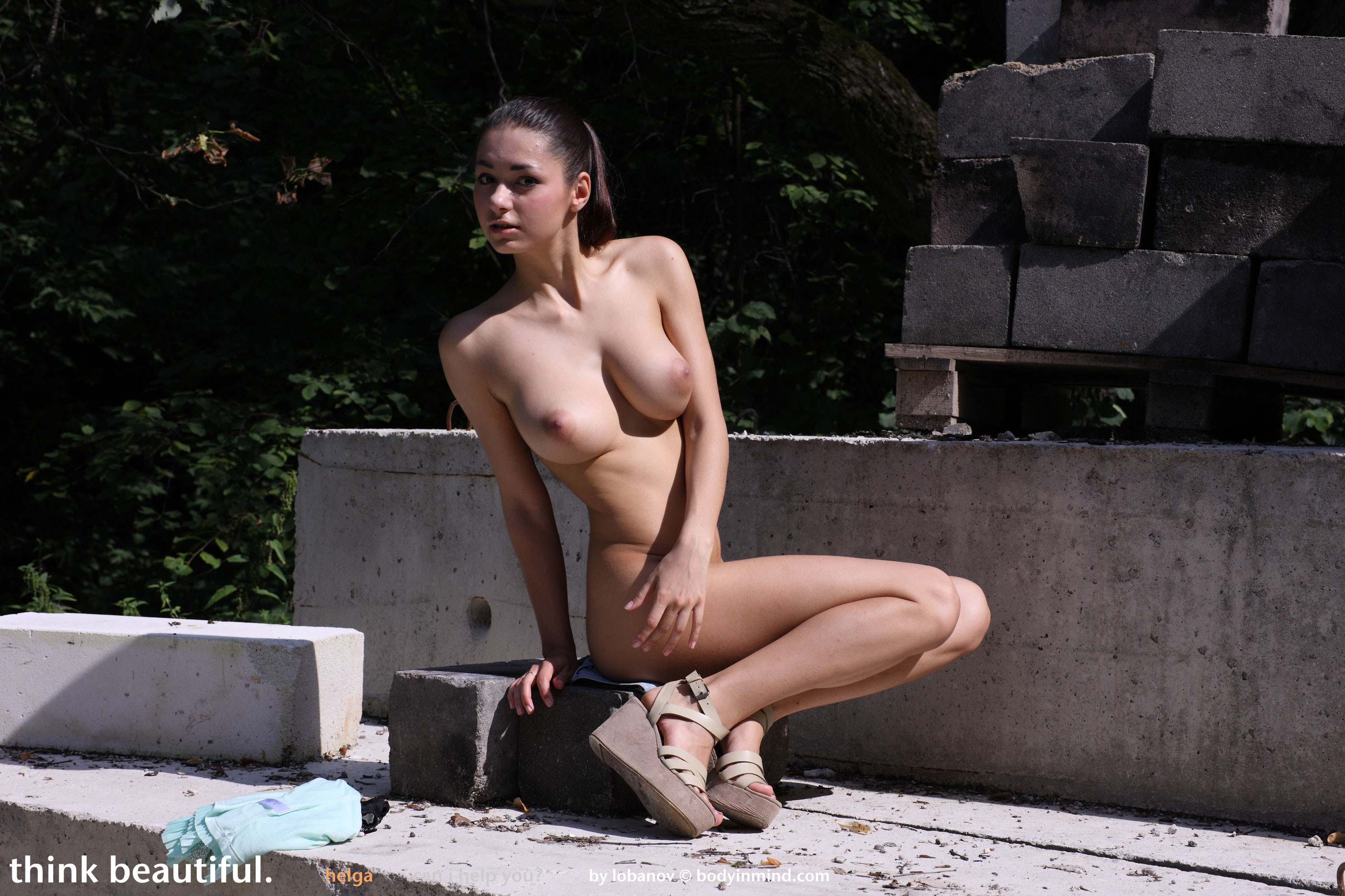Nude hot russian girl big niples excited too