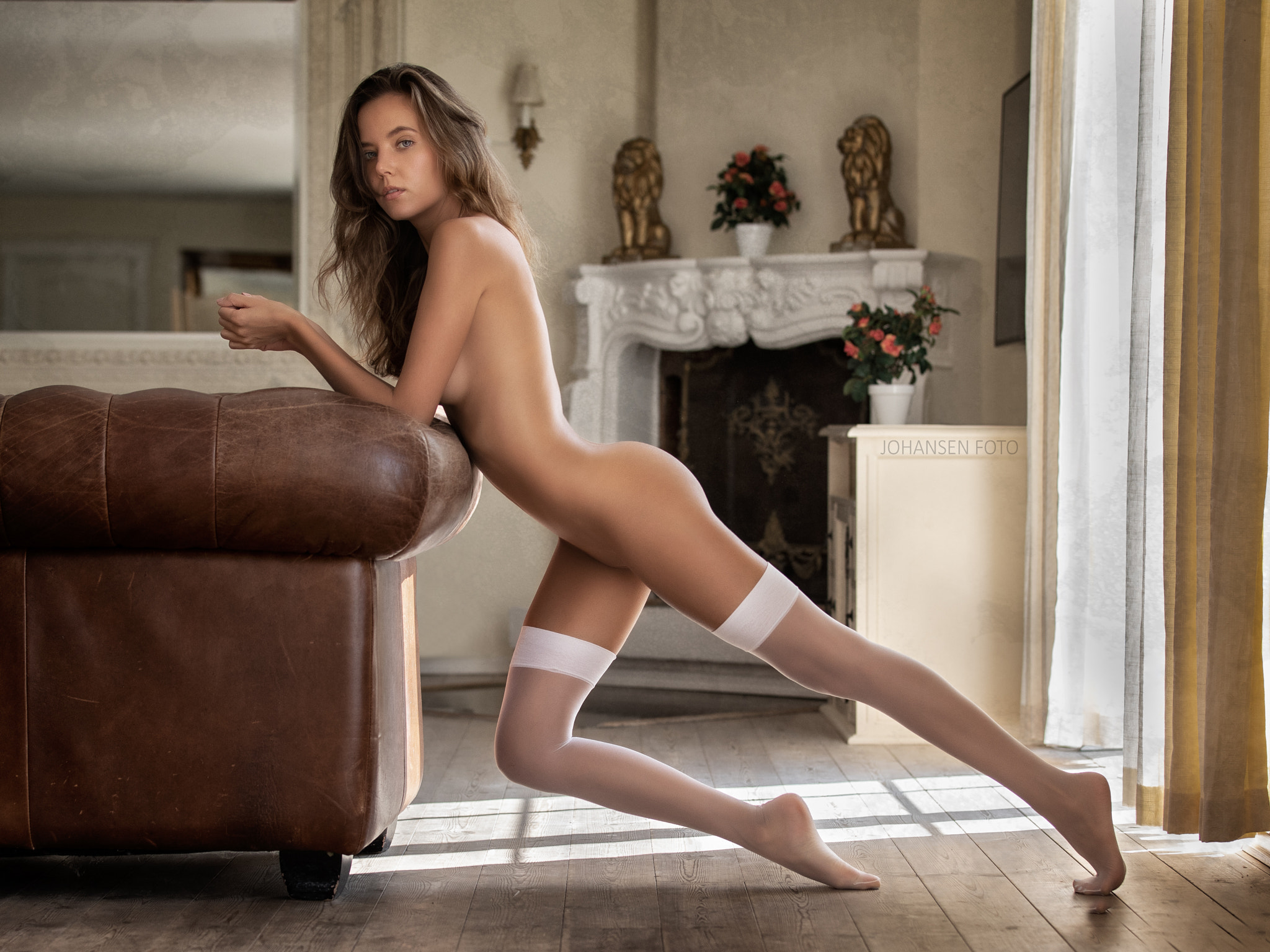 Catie Minx In White Stockings