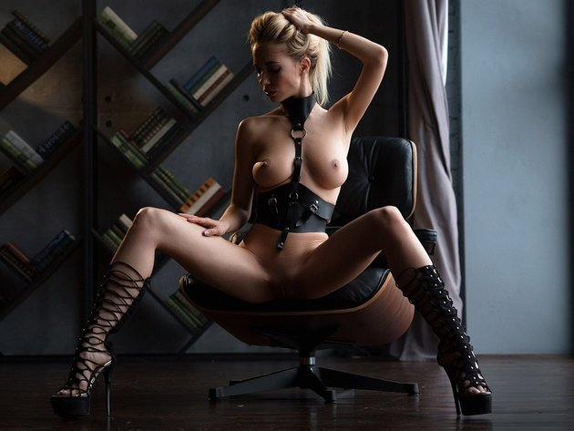Wallpaper sexy, blonde, erotic, breast, pussy, vagina, nipples, sitting, shaved, spread her legs