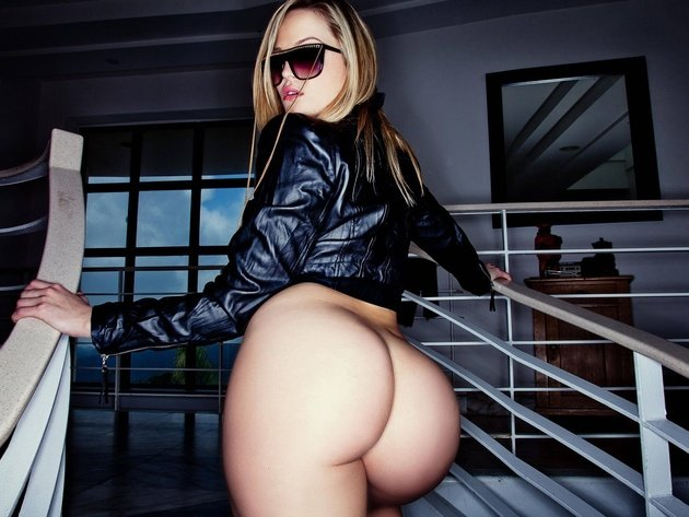 Wallpaper sexy, blonde, model, erotic, girl, ass, naked, glasses, alexis texas, hot ass