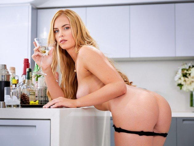 Wallpaper sexy, blonde, model, ass, panties, kitchen, bailey rayne, doggy